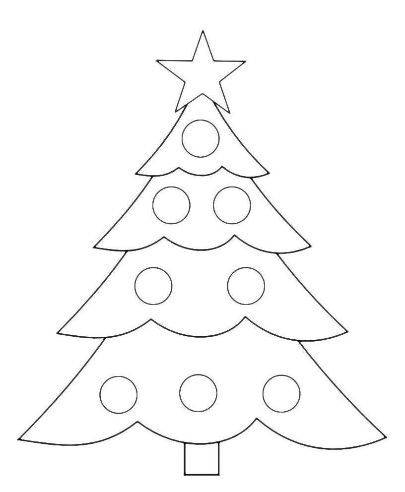 Natale albero di natale semplice - Disegni di natale per finestre ...