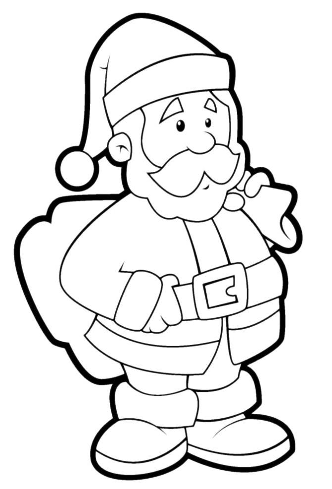 TOP 10 раскраски.  Дед мороз - раскраска для детей. .  Наш сайт раскраска имеет в коллекции более 17.000 рисунков...