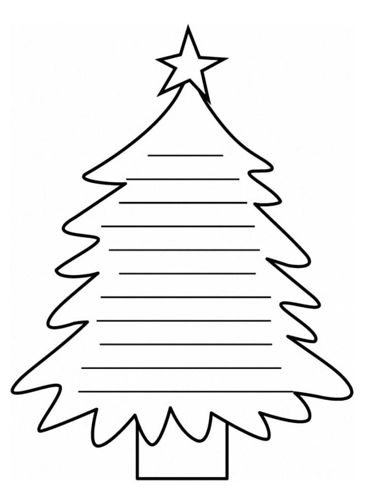 Natale biglietto a forma di albero di natale for Foto di alberi da colorare
