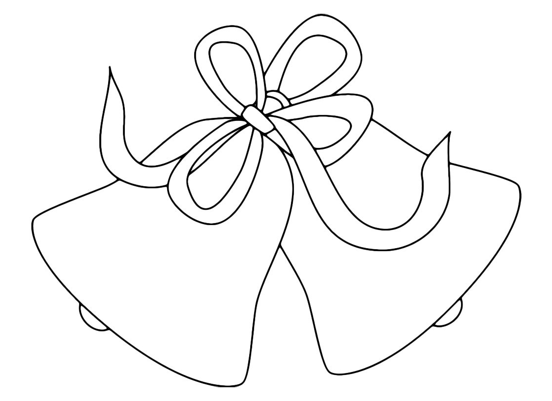 Natale campane di natale legate con fiocco for Immagini natalizie da colorare
