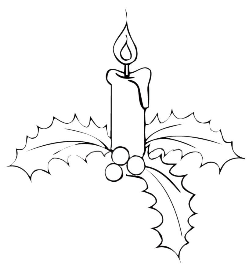 Natale candele di natale su vischio for Disegni di scantinati di sciopero