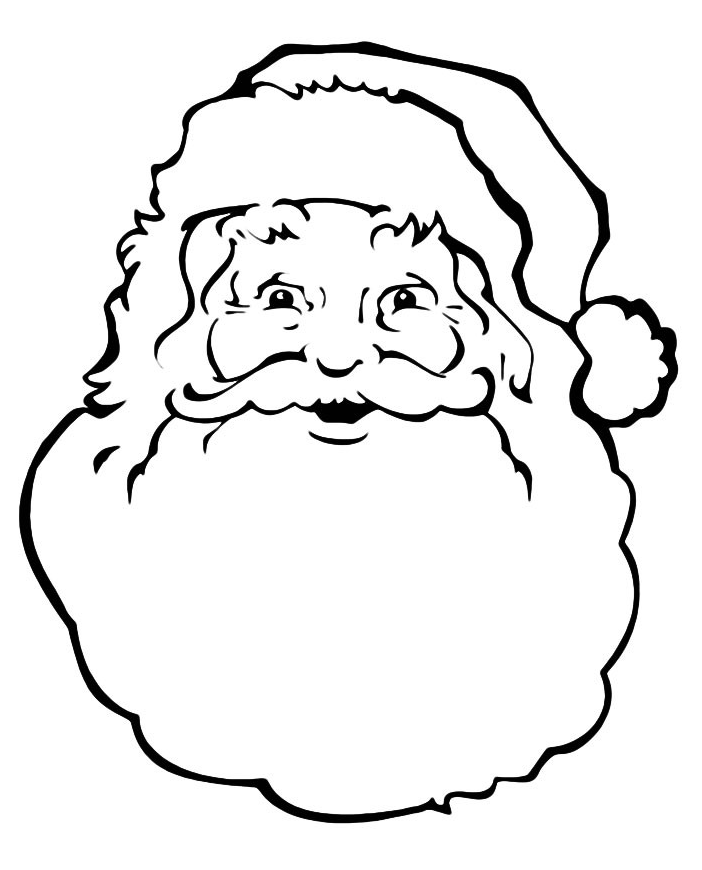 Line Drawing Santa Face : Natale faccia di babbo