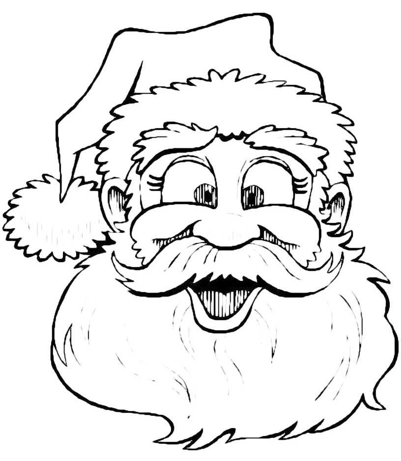 Immagini Viso Babbo Natale.Natale Faccia Di Babbo Natale