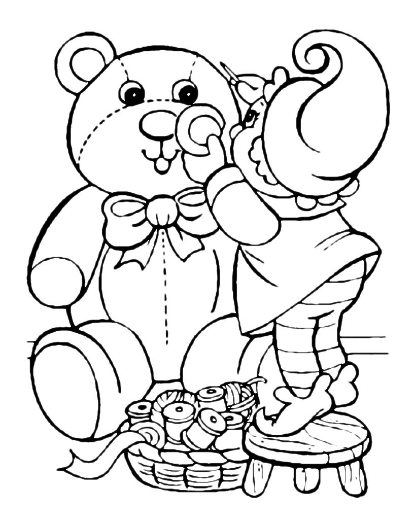 Print and color easter pictures to