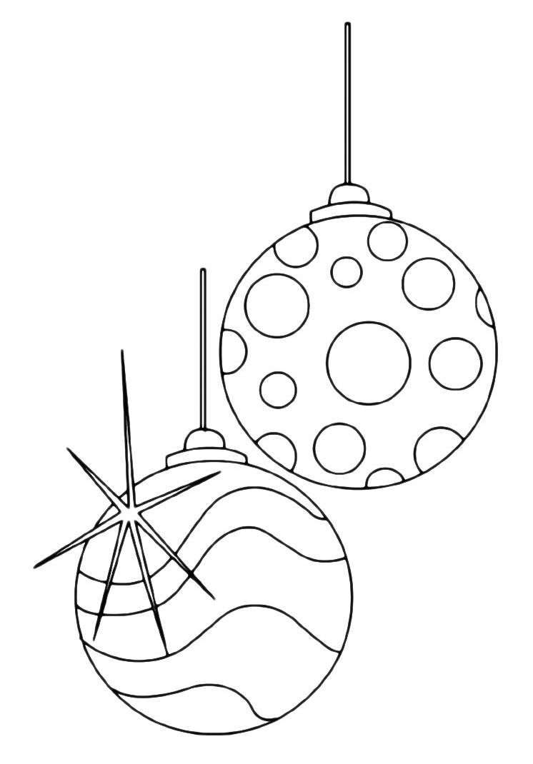 coloring pages christmas baubles clip - photo#36