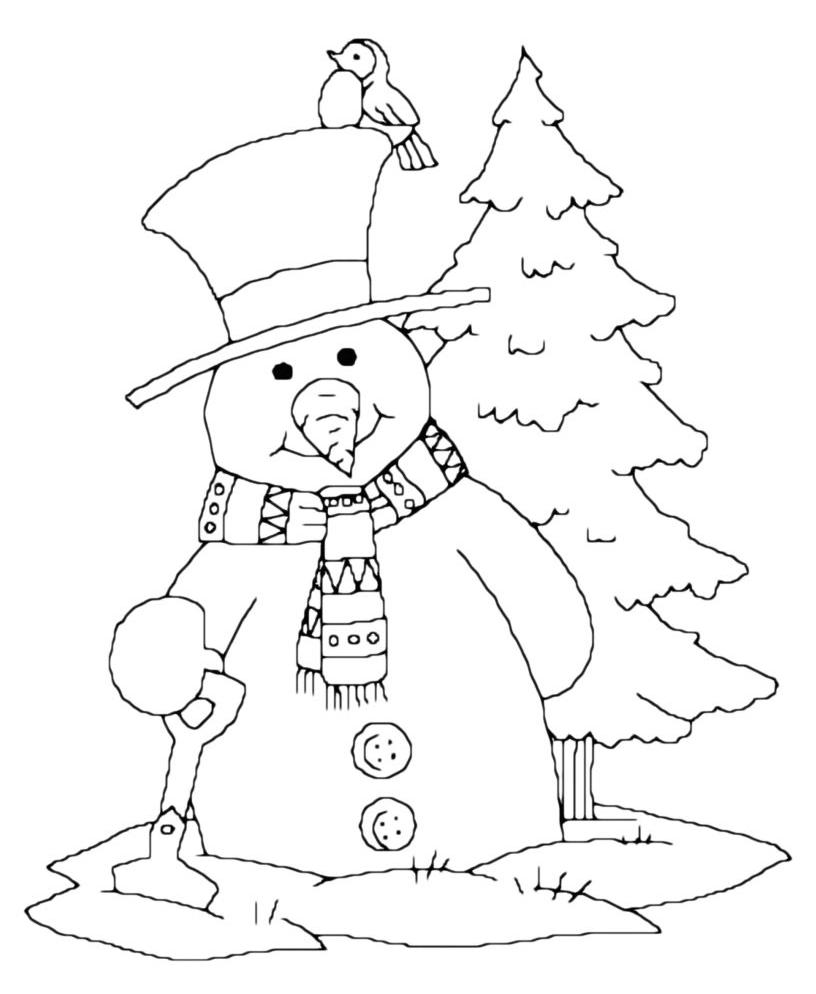 Natale Pupazzo Di Neve Con Albero Di Natale