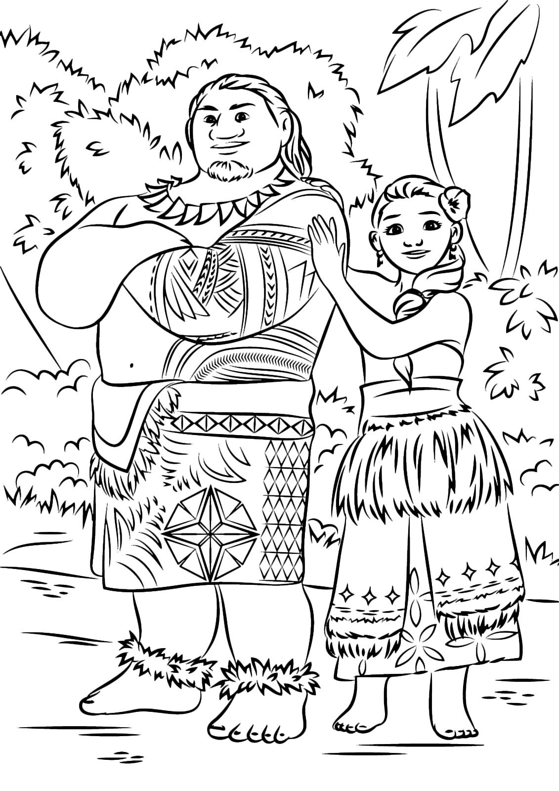 Oceania capo tui waialiki padre di vaiana e sina la brillante mamma - Dessin vaiana a imprimer ...