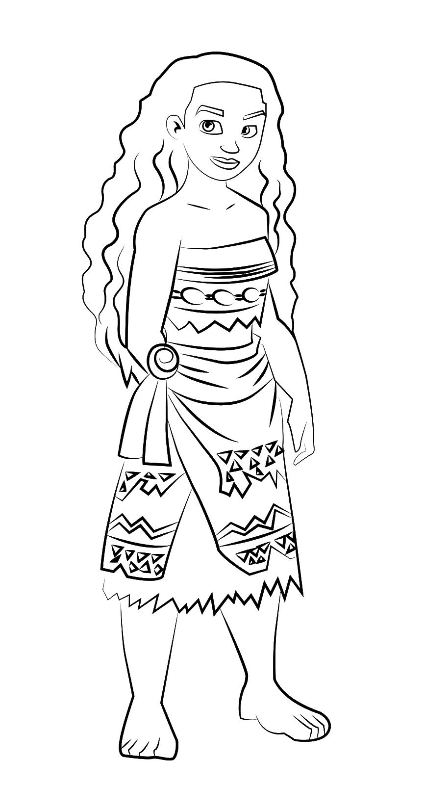 Oceania La Principessa Vaiana Con Il Vestito Del Suo Popolo