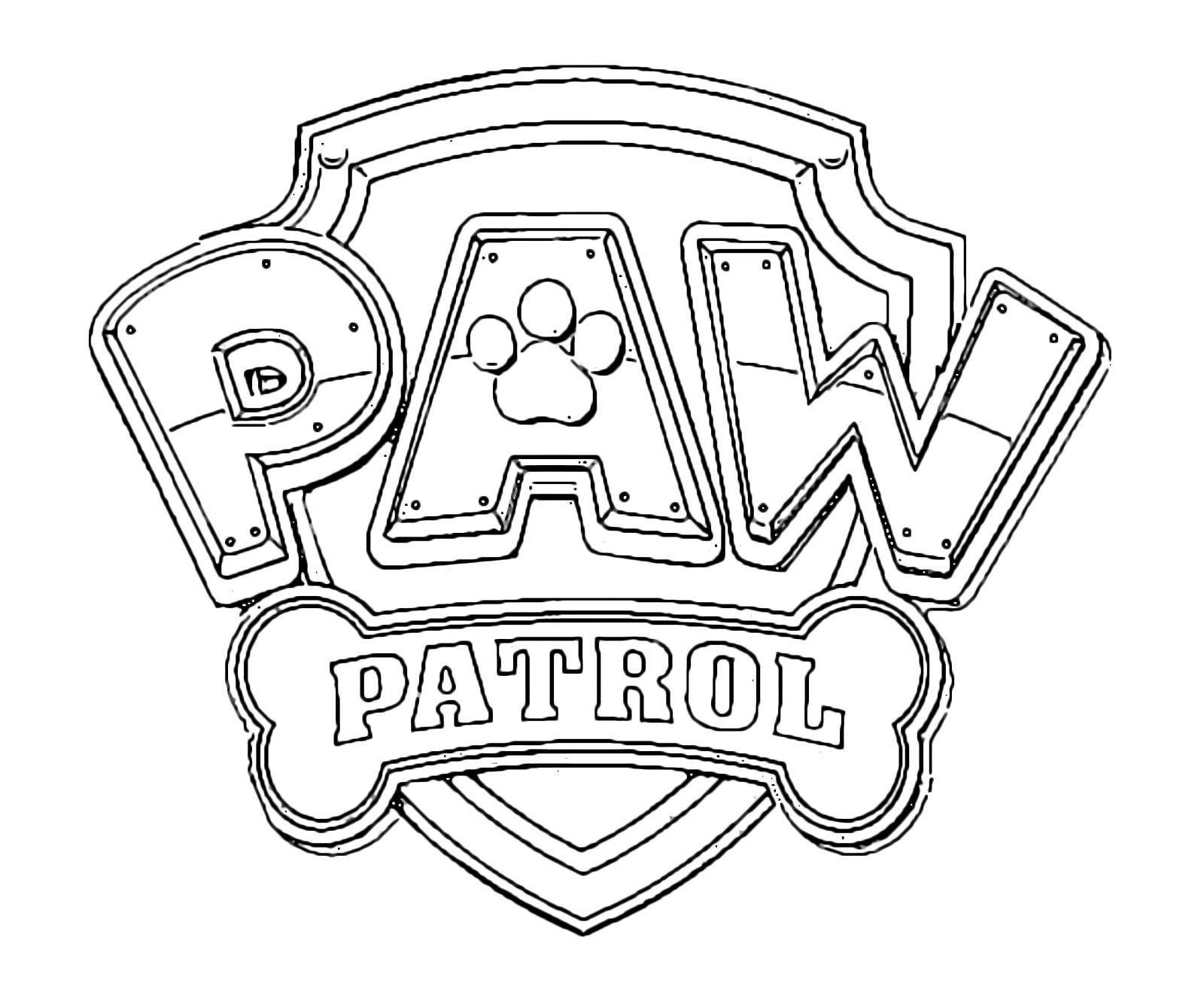 Paw patrol il simbolo dei paw patrol for Disegni da colorare paw patrol