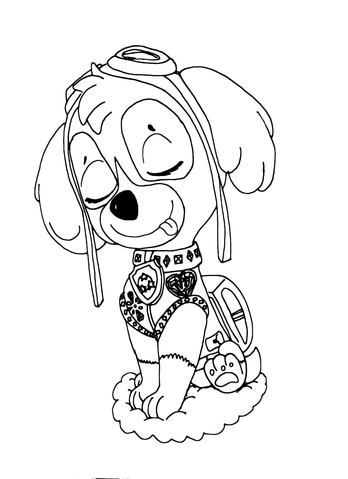 Paw patrol la bella skye il cane da salvataggio aereo for Disegni da colorare paw patrol