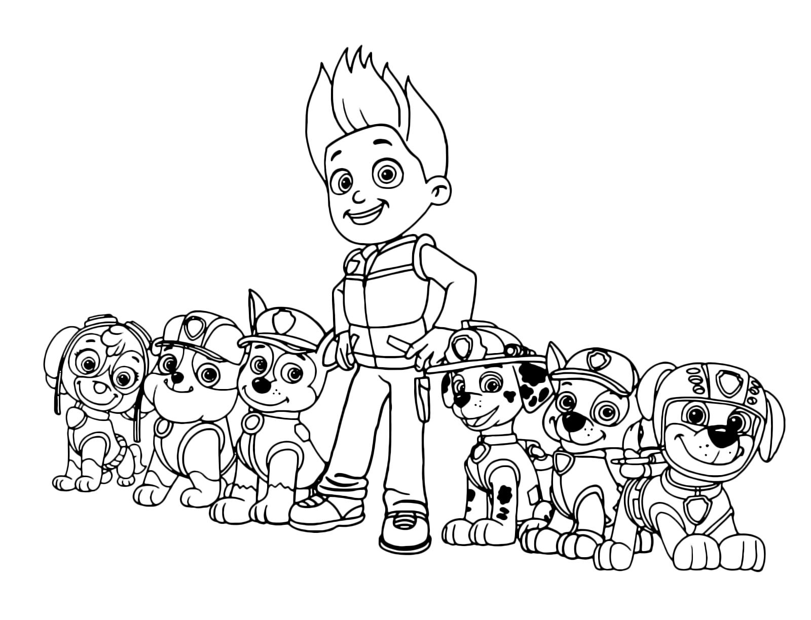 paw patrol tutti i membri della squadra dei paw patrol