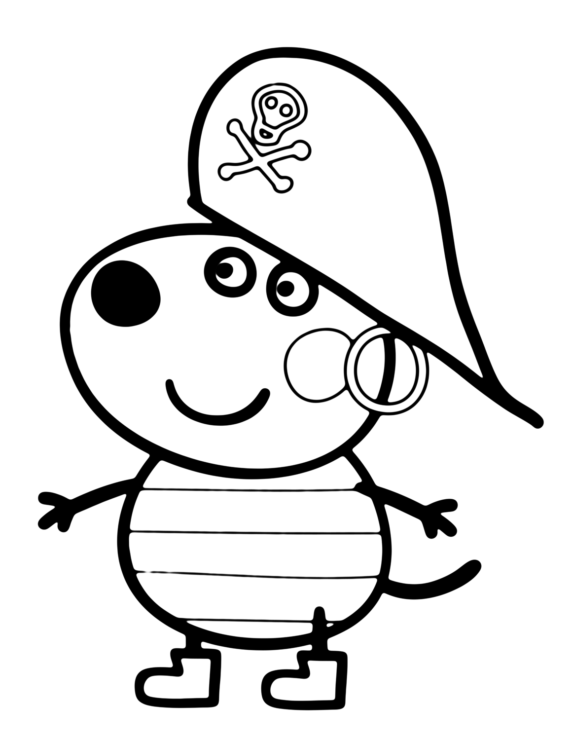 Free Rebecca Peppa Pig Coloring Pages