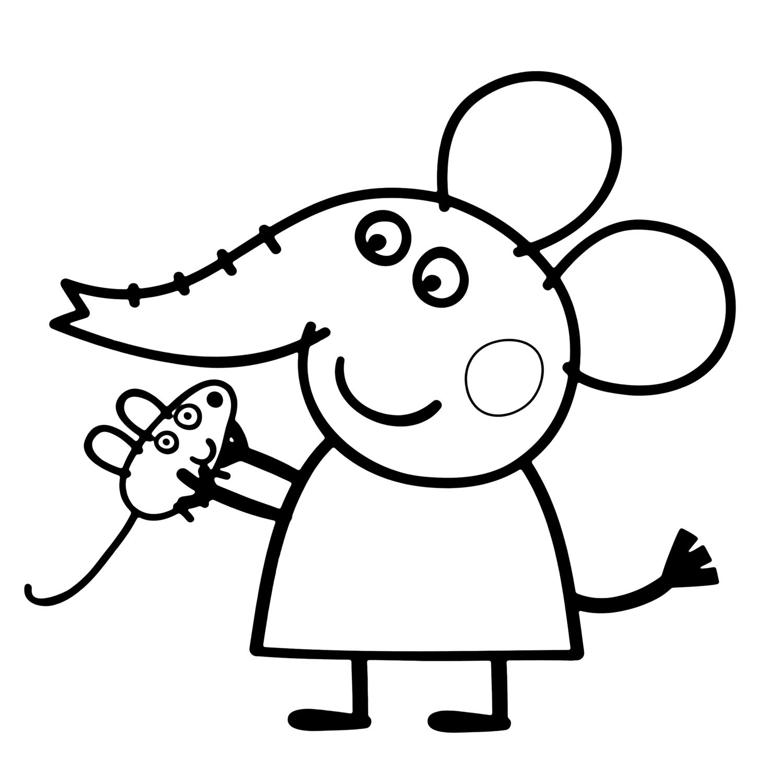 Peppa Pig Emily Elefante Gioco Con Il Suo Topolino