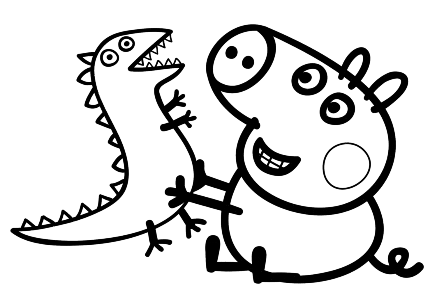 Coloring Pages To Print Peppa Pig : Free coloring pages of peppa pig