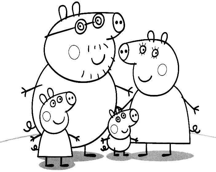 Смотреть раскраски свинка пеппа