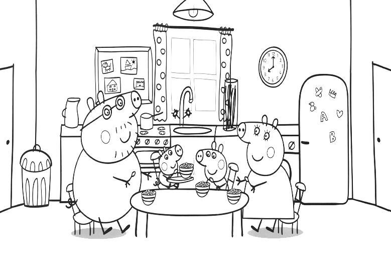 Peppa pig - la famiglia pig a tavola