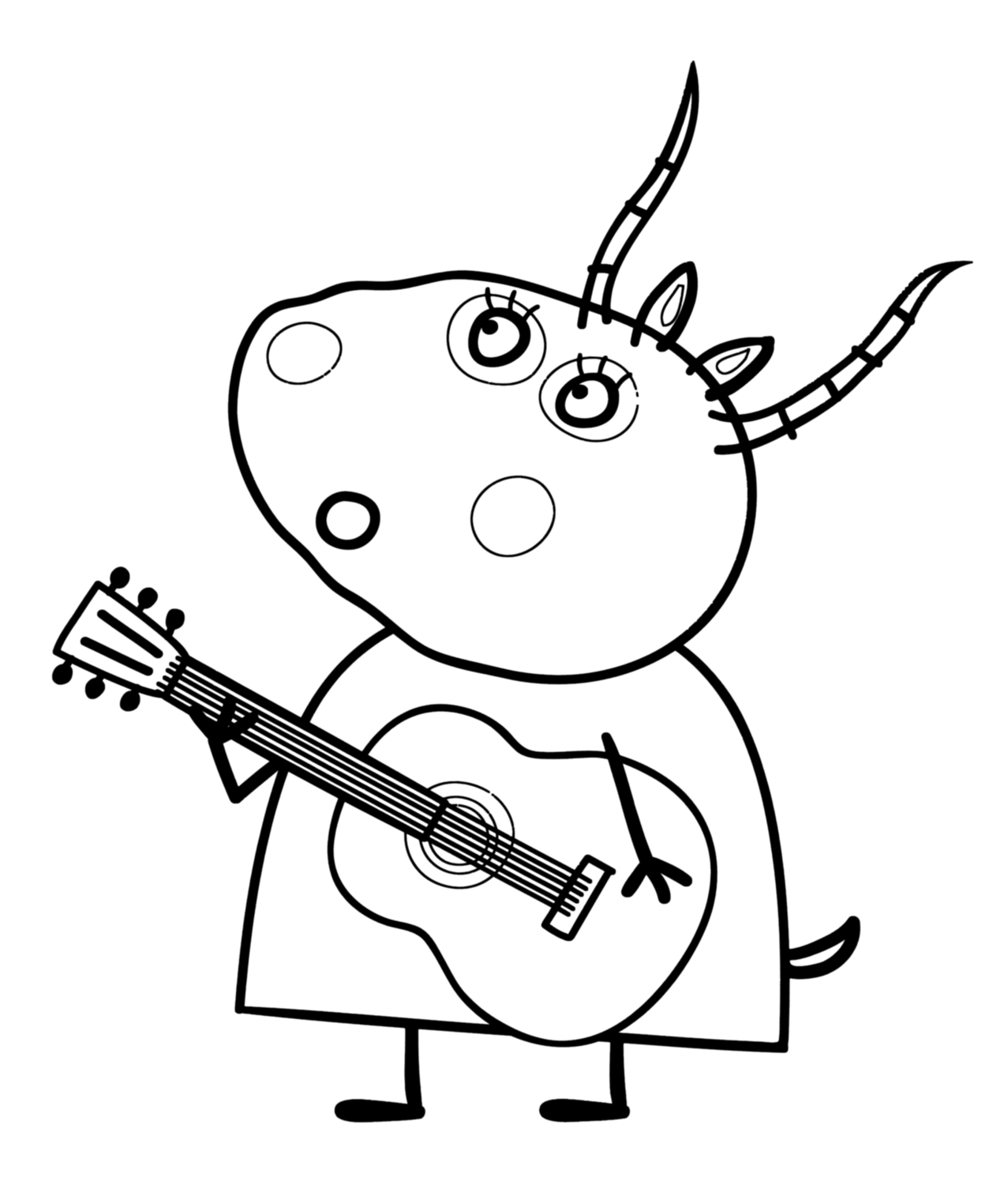 Free Coloring Pages Of Peppa Pig Madame Gazelle