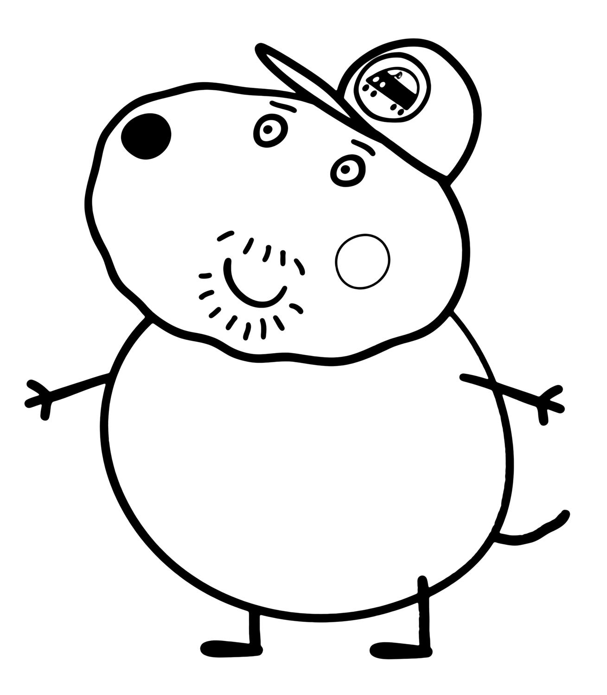 Peppa Pig Nonno Cane Il Migliore Amico Di Nonno Pig The Pig Coloring Pages
