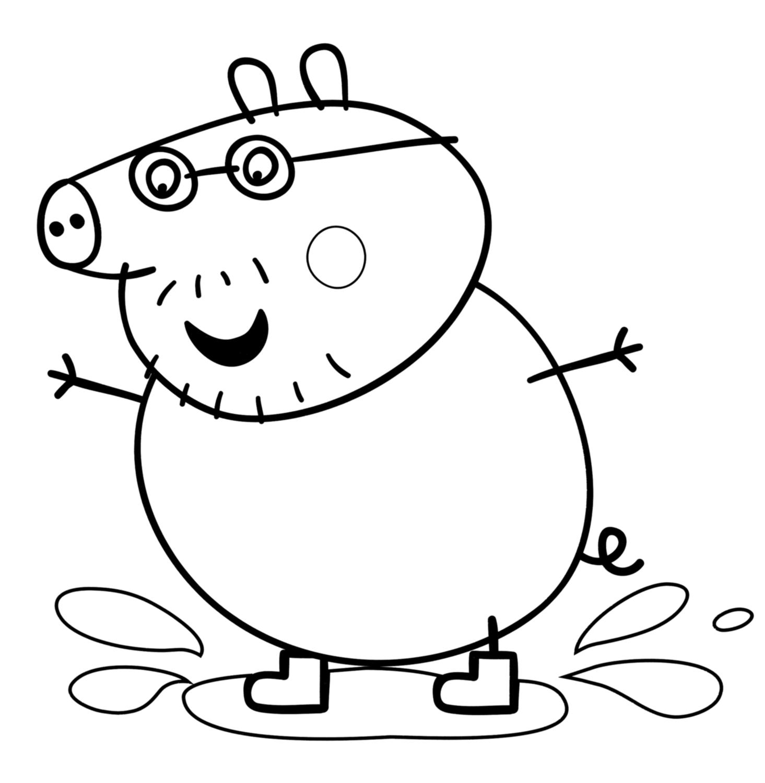 Pin Disegni Peppa Pig 03 Da Colorare On Pinterest
