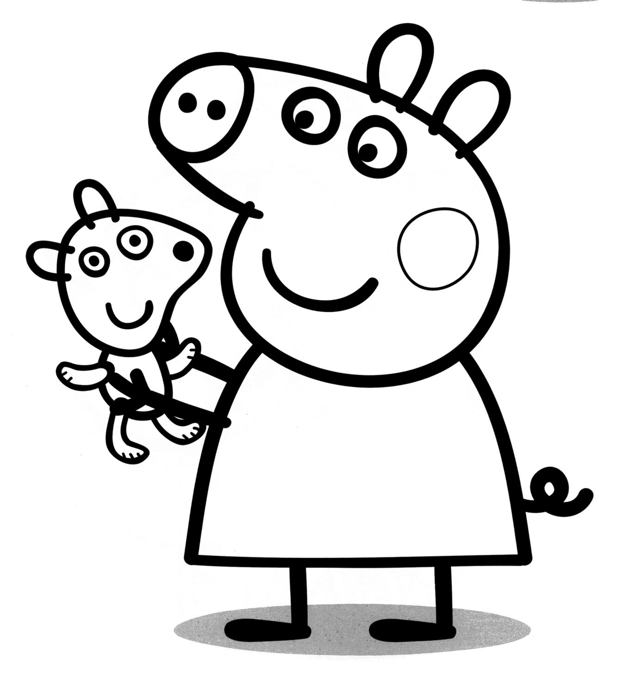 Peppa Pig - Peppa Pig con il suo orsetto