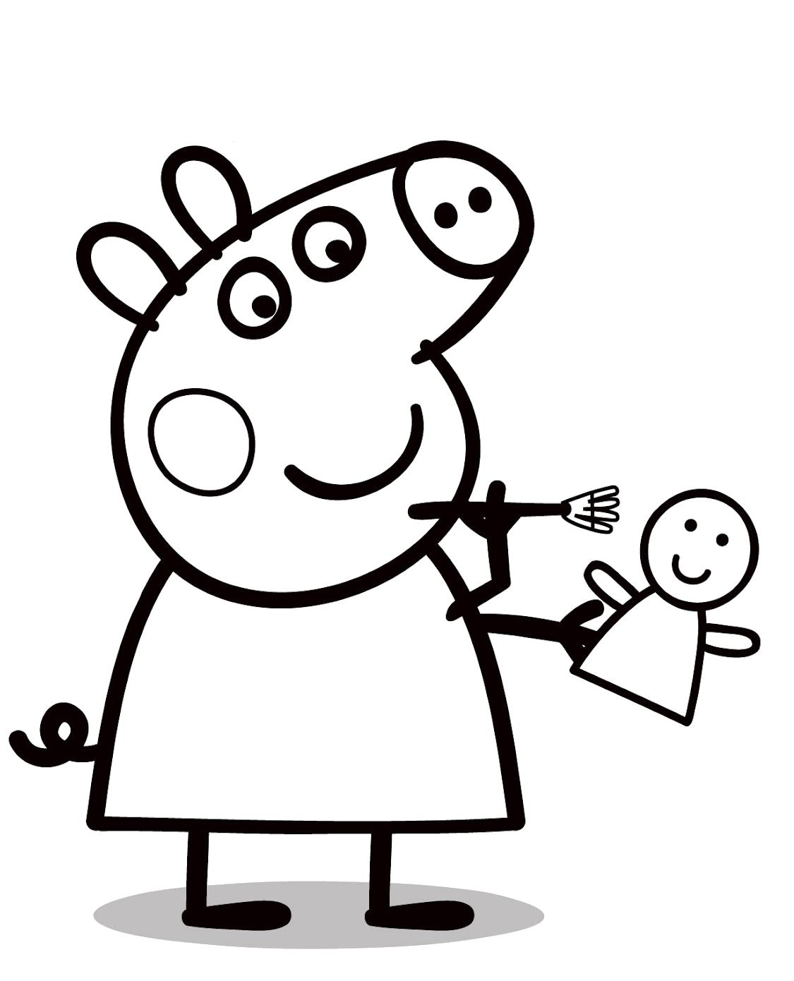 Peppa Pig Peppa Pig Con La Sua Bambolina