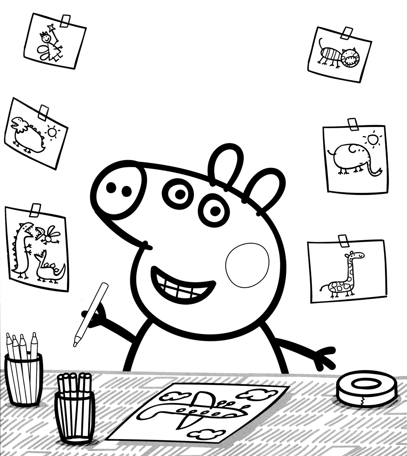 Peppa Pig sigla 009 as well desenhos para colorir Harley Quinn together with Malvorlage Bibi Blocksberg 16 together with  also canary likewise  besides bowl of rice likewise peppa pig 07 together with  furthermore E8c6dMeTE together with coloriage peppa pig 10265. on peppa pig coloring pages