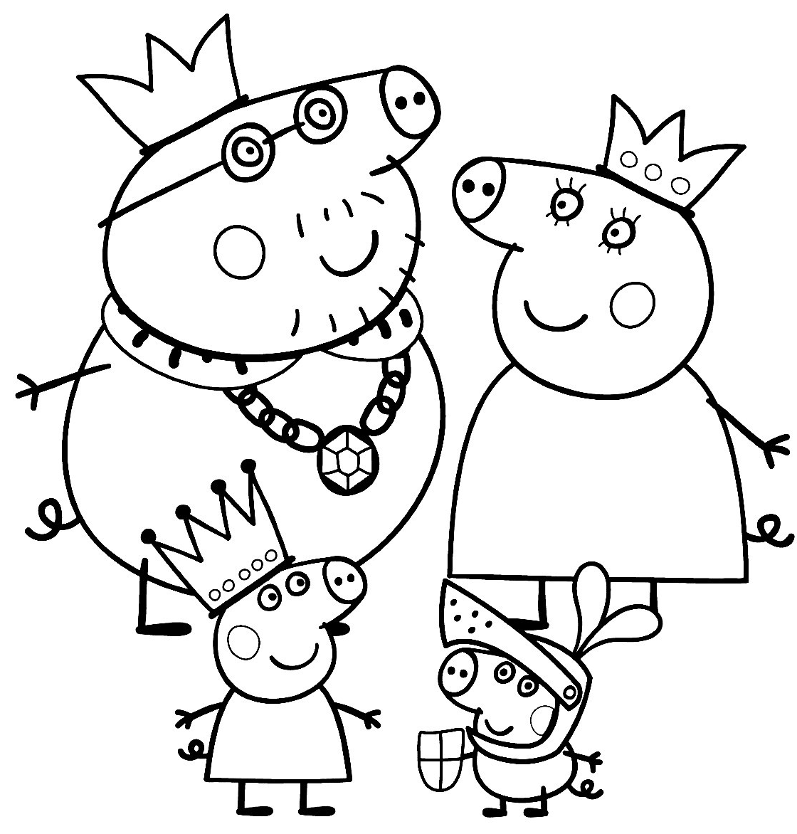 Peppa pig coloring pages to print car interior design for Coloring pages peppa pig
