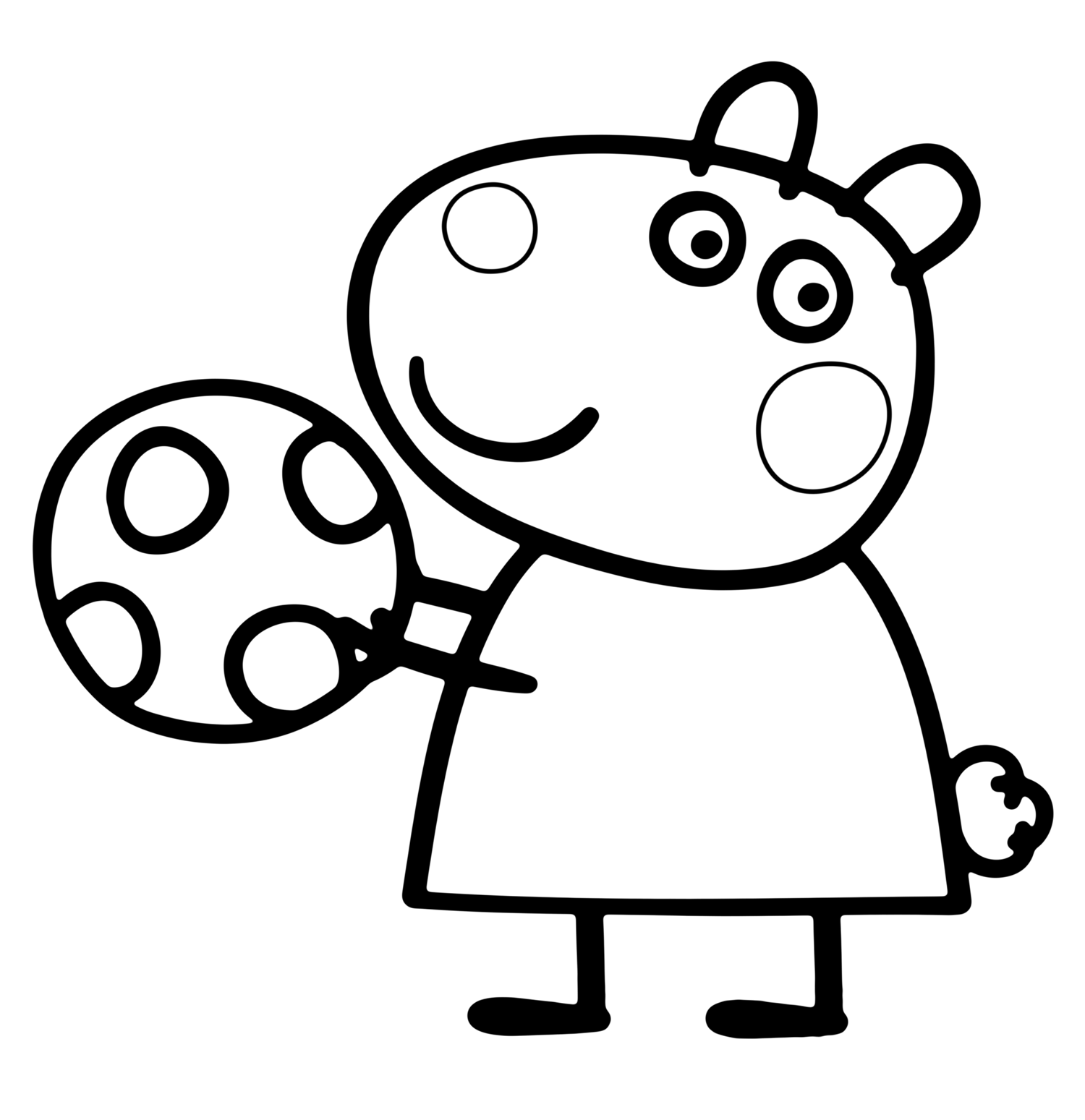 Suzy Sheep Peppa Pig Coloring Pages Sketch Coloring Page