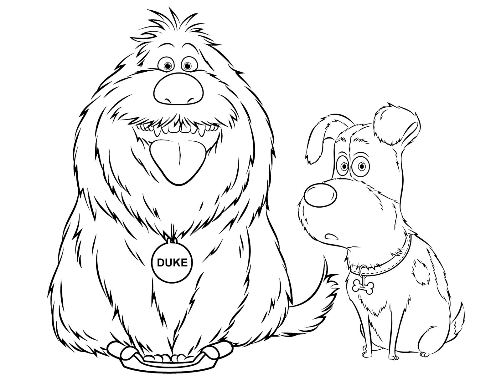 Disegni di pets vita da animali da colorare for Immagini di cani da colorare