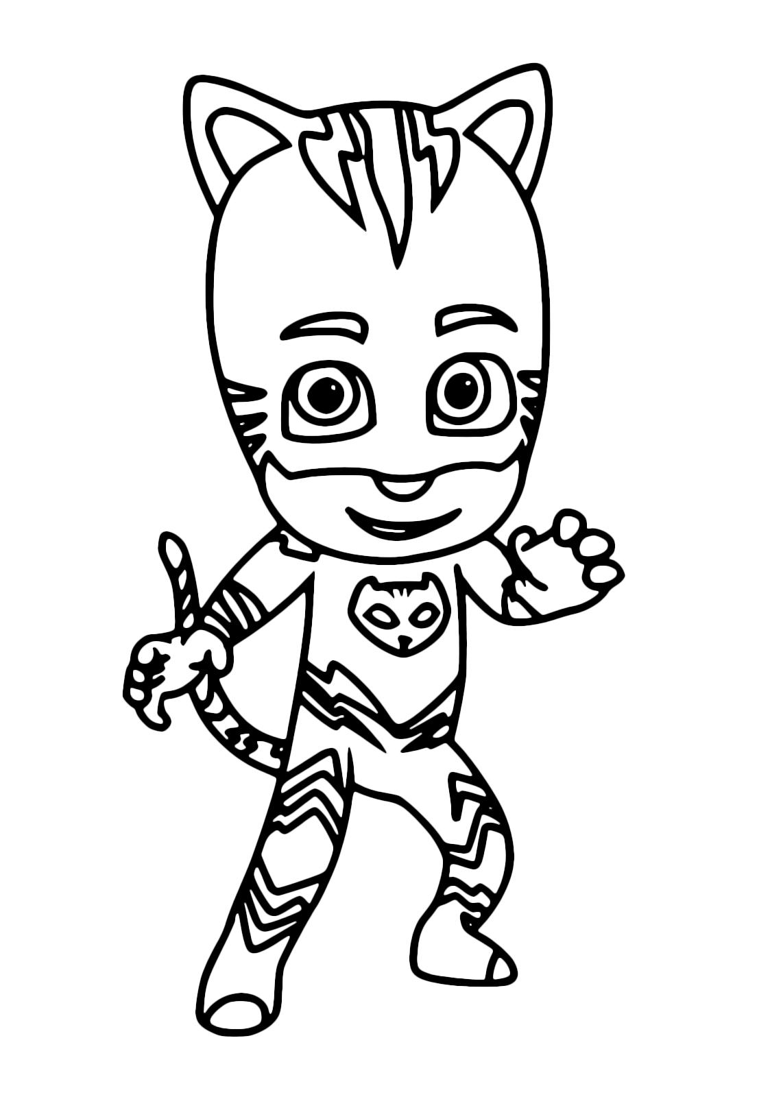 Pj masks super pigiamini gattoboy pronto a colpire con for Super pigiamini disegni da colorare