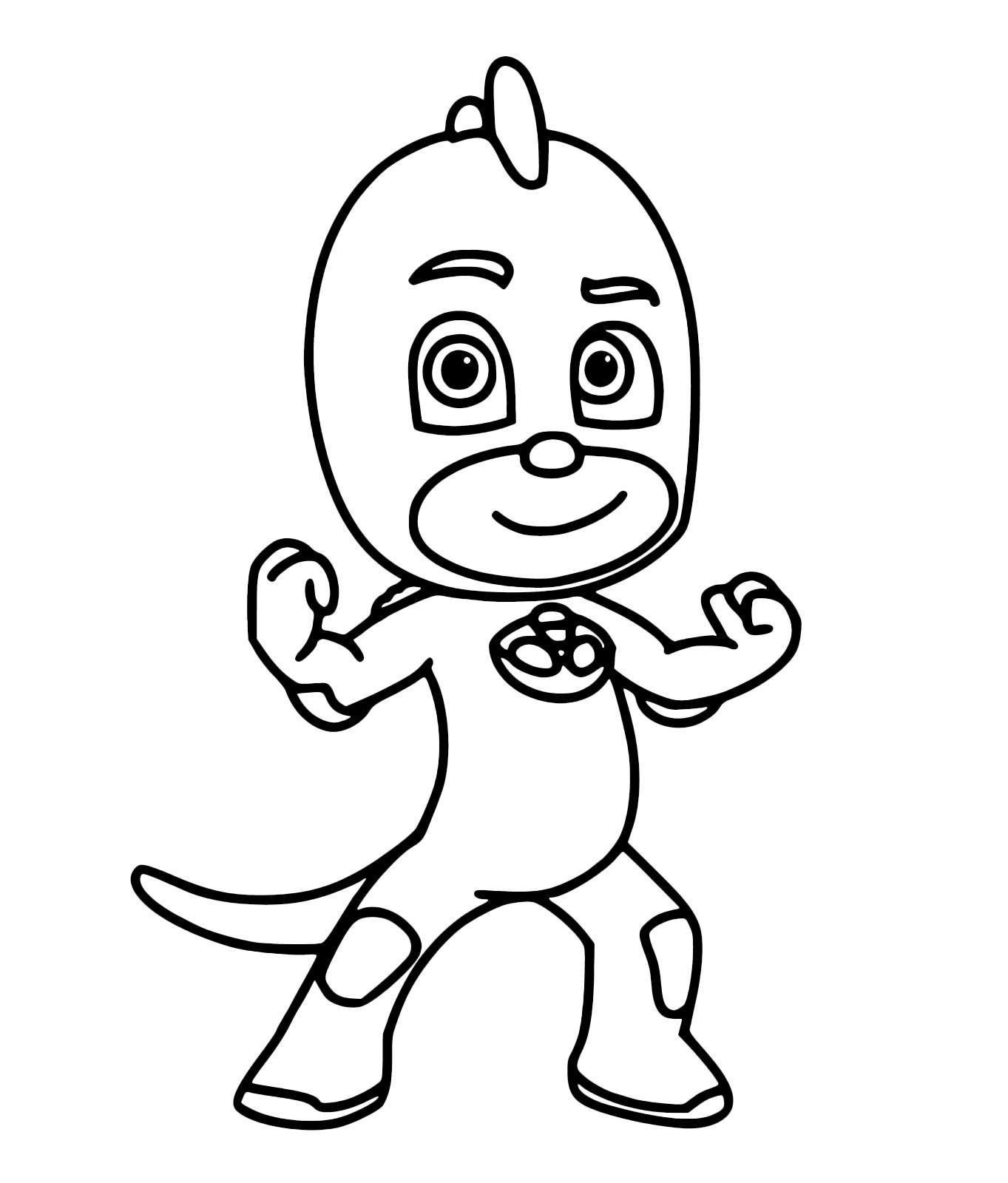 Pj masks super pigiamini geco fa vedere tutta la sua forza for Immagini dei super pigiamini da colorare