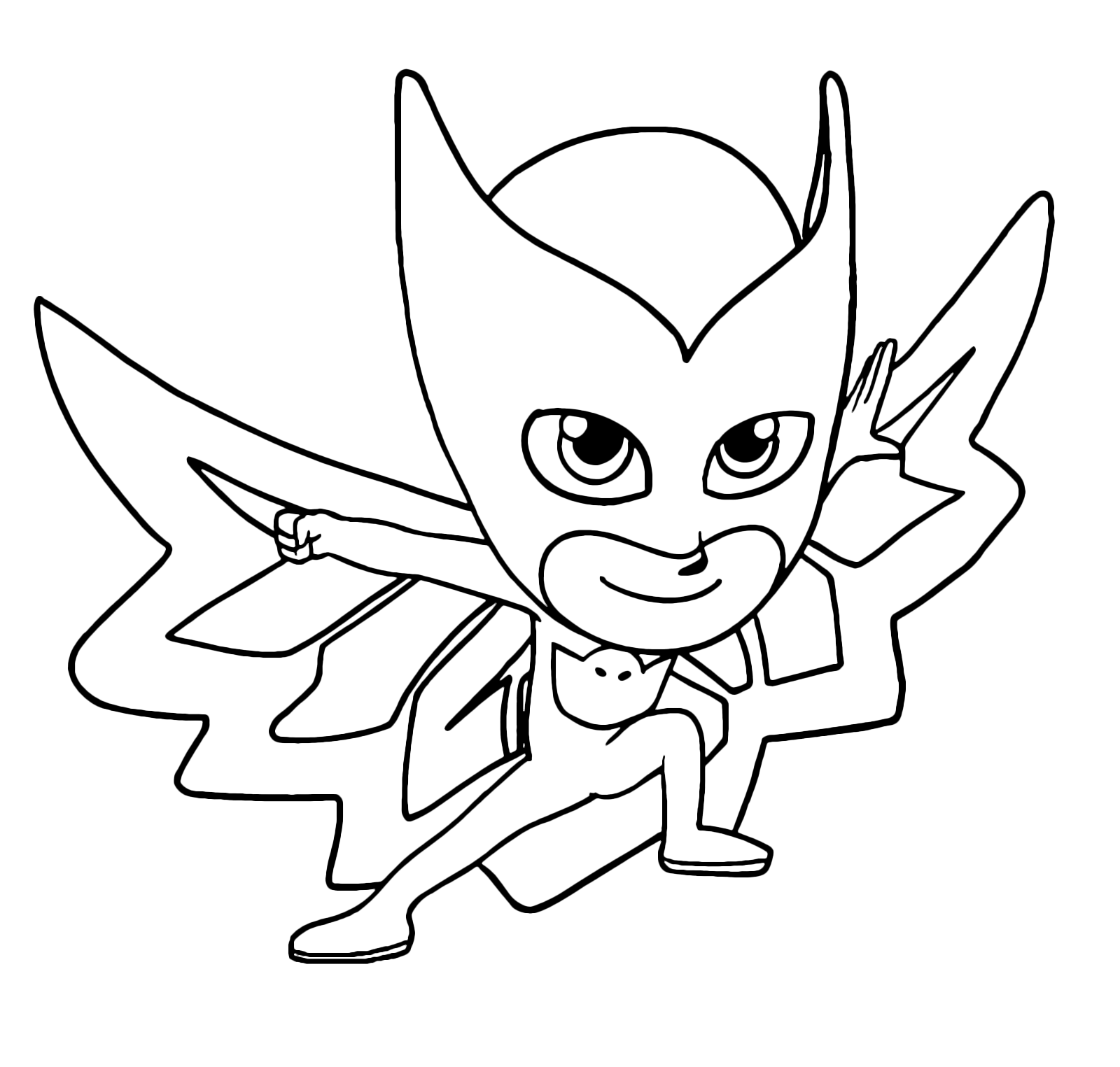 Pj masks super pigiamini gufetta pronta a sconfiggere for Disegni da colorare super pigiamini