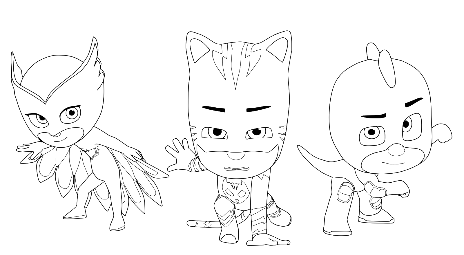 Pj masks super pigiamini la squadra dei super for Disegni da colorare super pigiamini