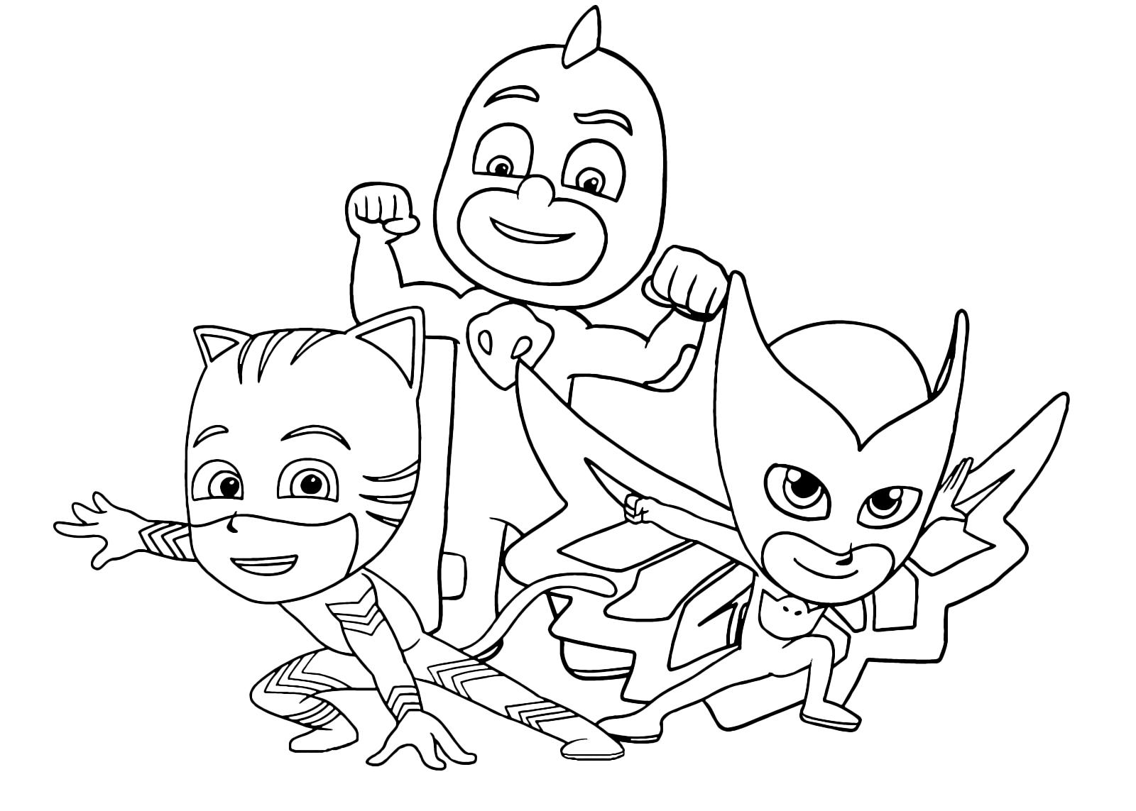 Pj masks super pigiamini la squadra dei super for Disegni pj masks