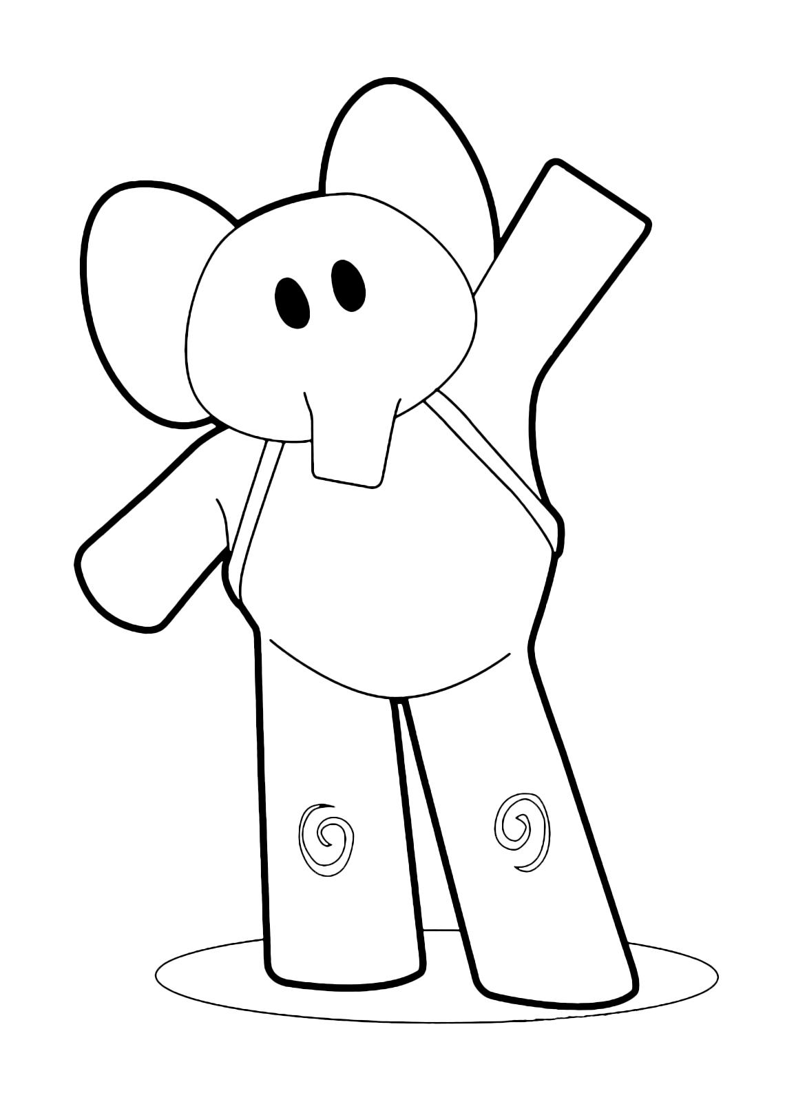 Pocoyo - Elly saluta