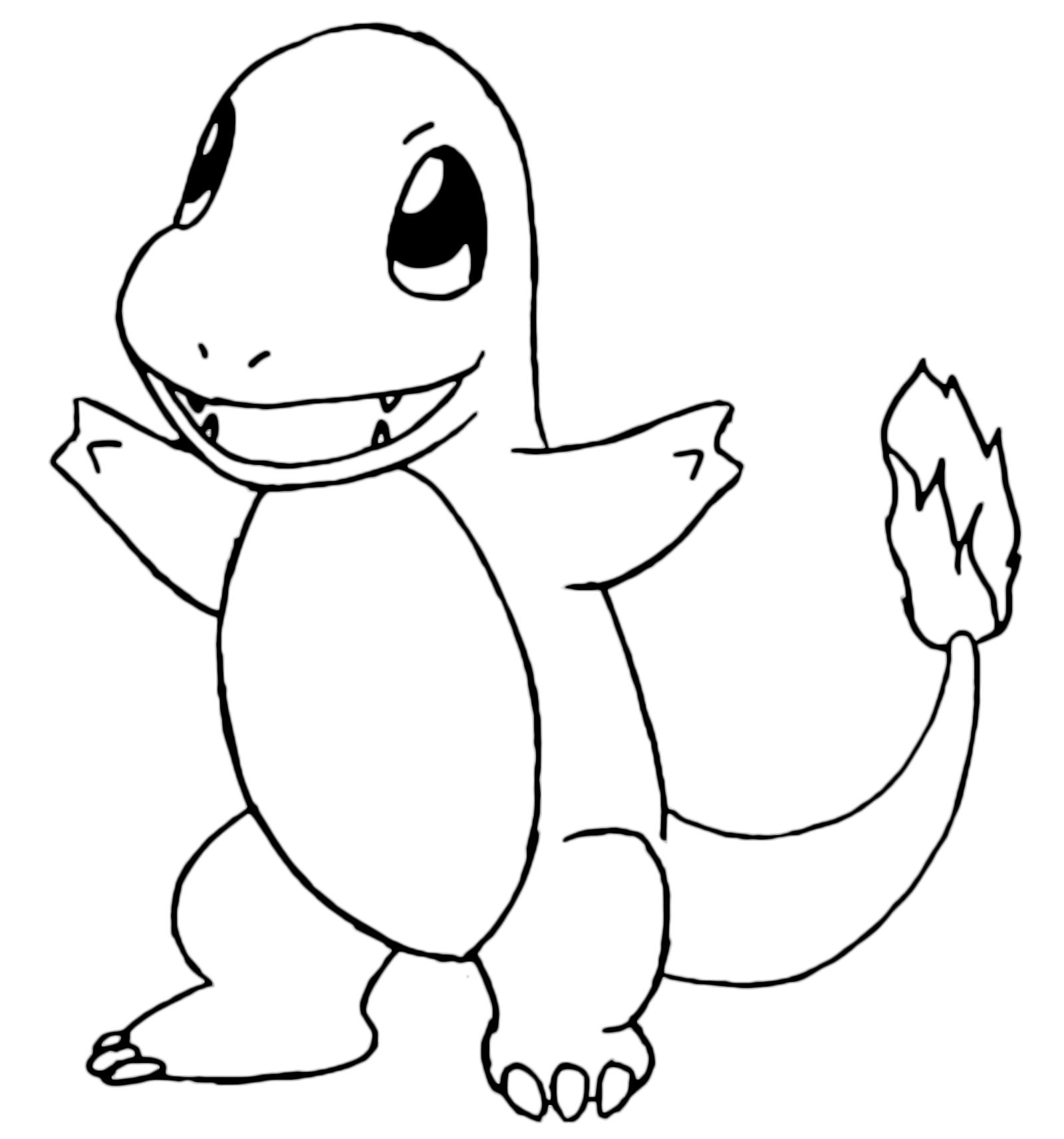 Pok mon gen 1 charmander 4 fuoco for Pokemon da stampare e colorare