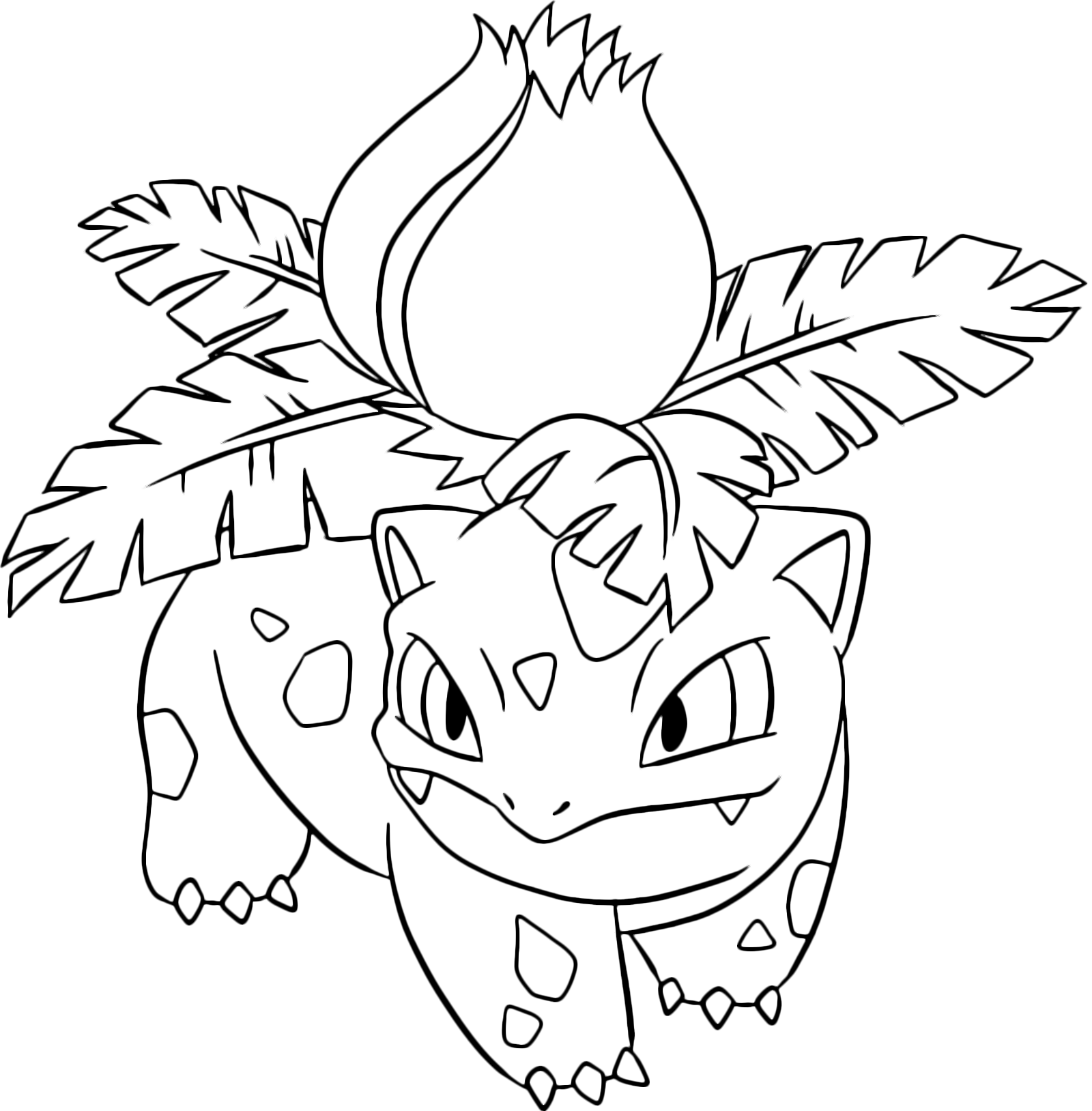 Pok mon gen 1 ivysaur sulle zampe 2 erba for Pokemon da colorare e stampare