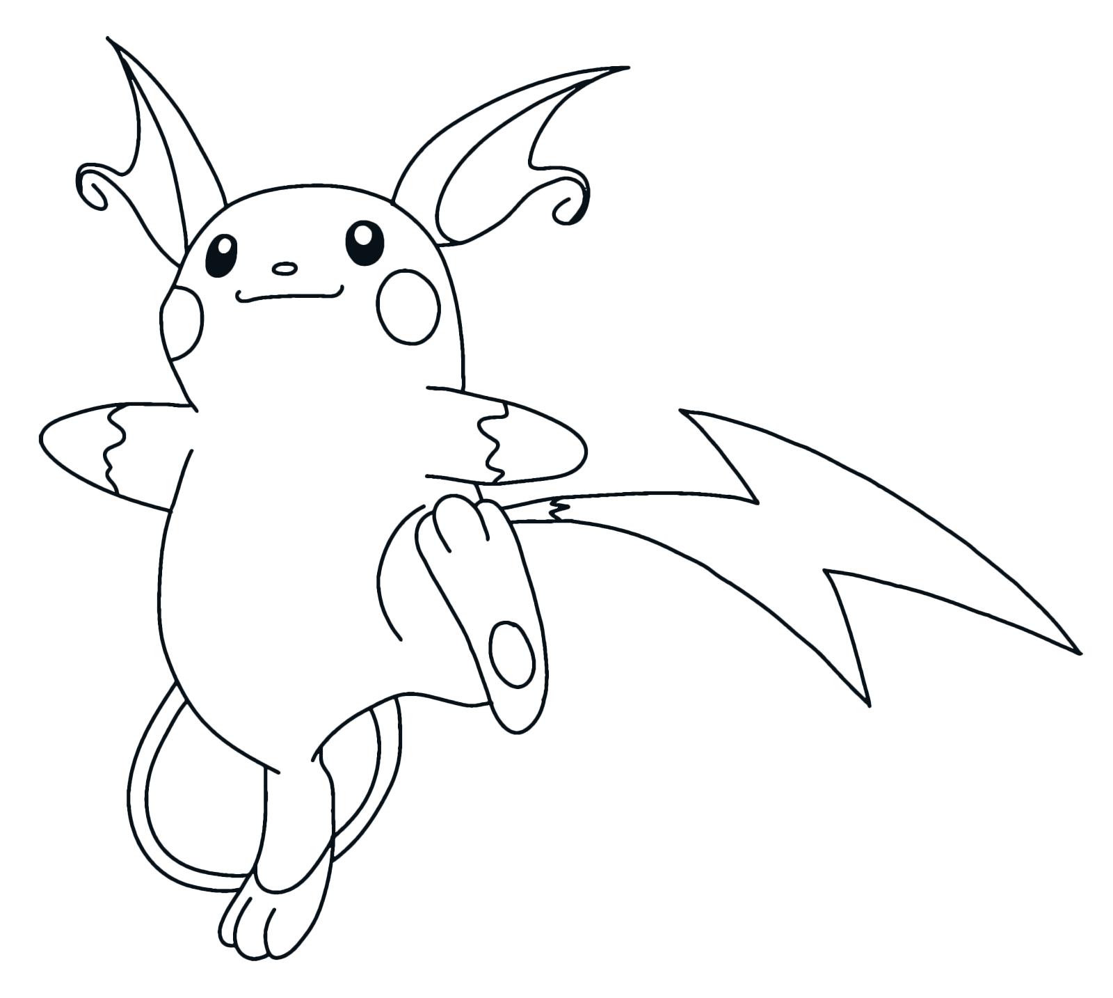 Pok mon gen 1 l 39 elettrico raichu 26 elettro for Pokemon da colorare e stampare