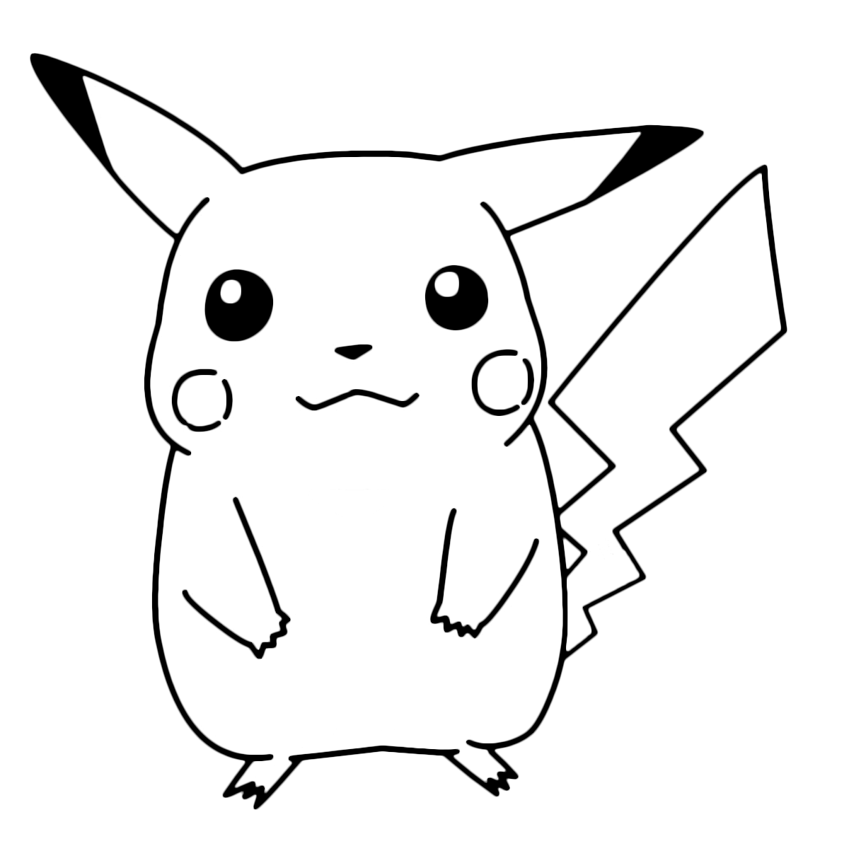 Coloring pages of pokemon pikachu