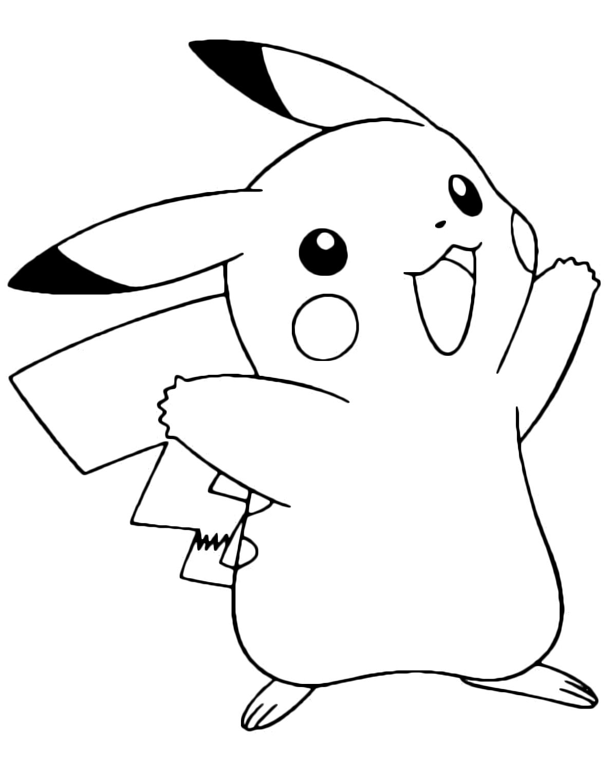 Kleurplaten Pokenon Go Pok 233 Mon Gen 1 Pikachu Felice 25 Elettro