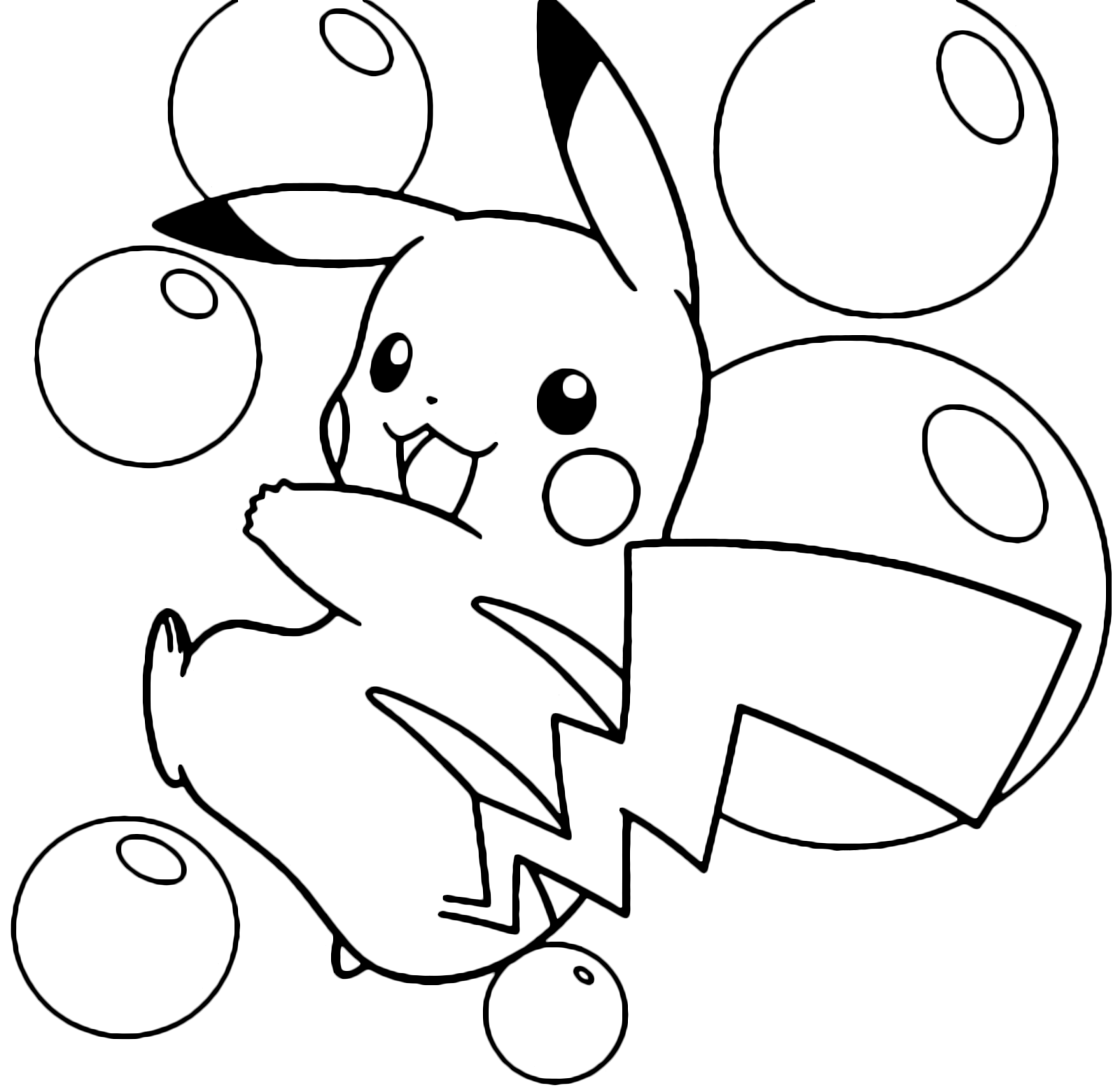 Pok mon Gen 1 Pikachu in mezzo
