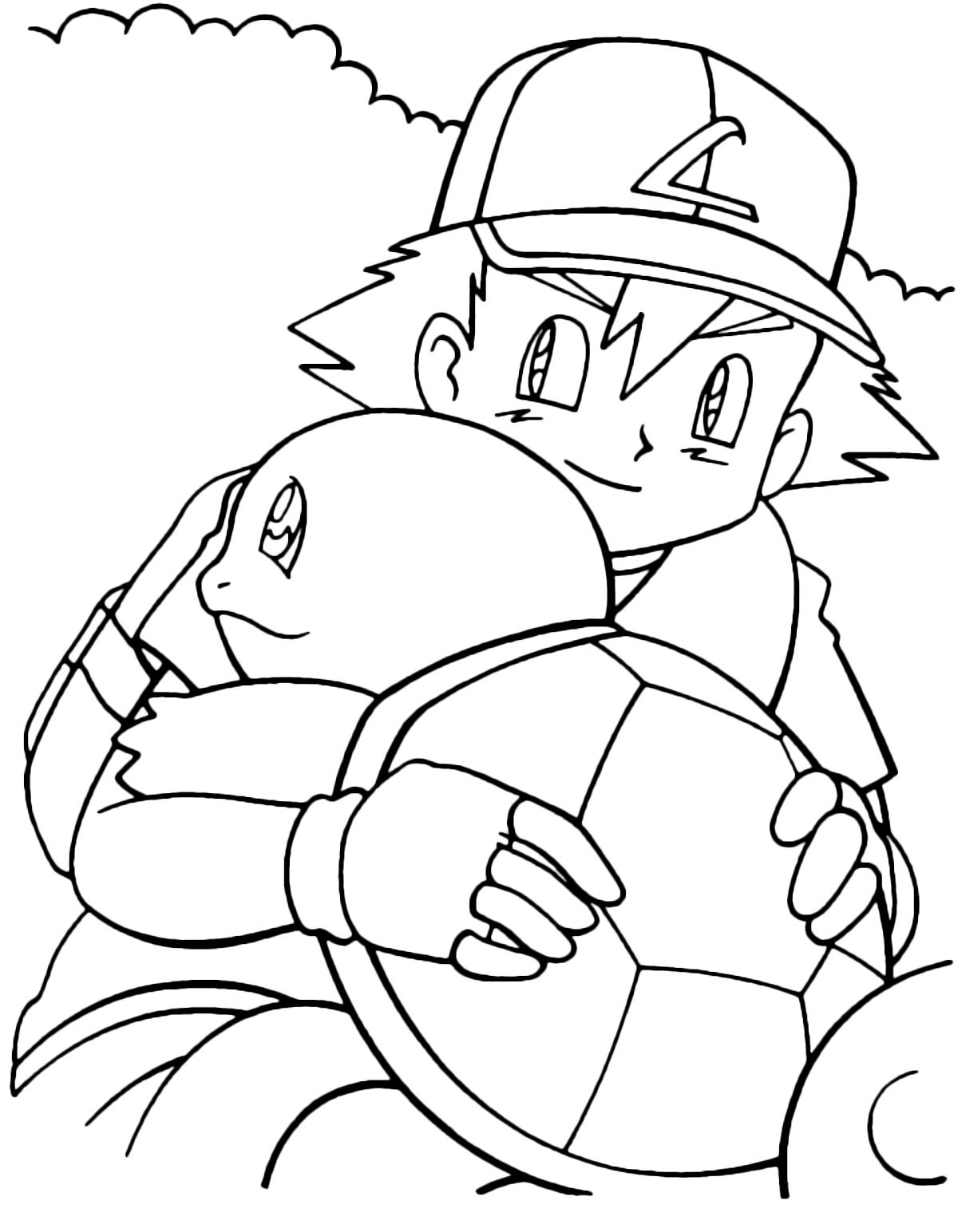 Pokémon Gen 1 Squirtle Abbraccia Ash Ketchum