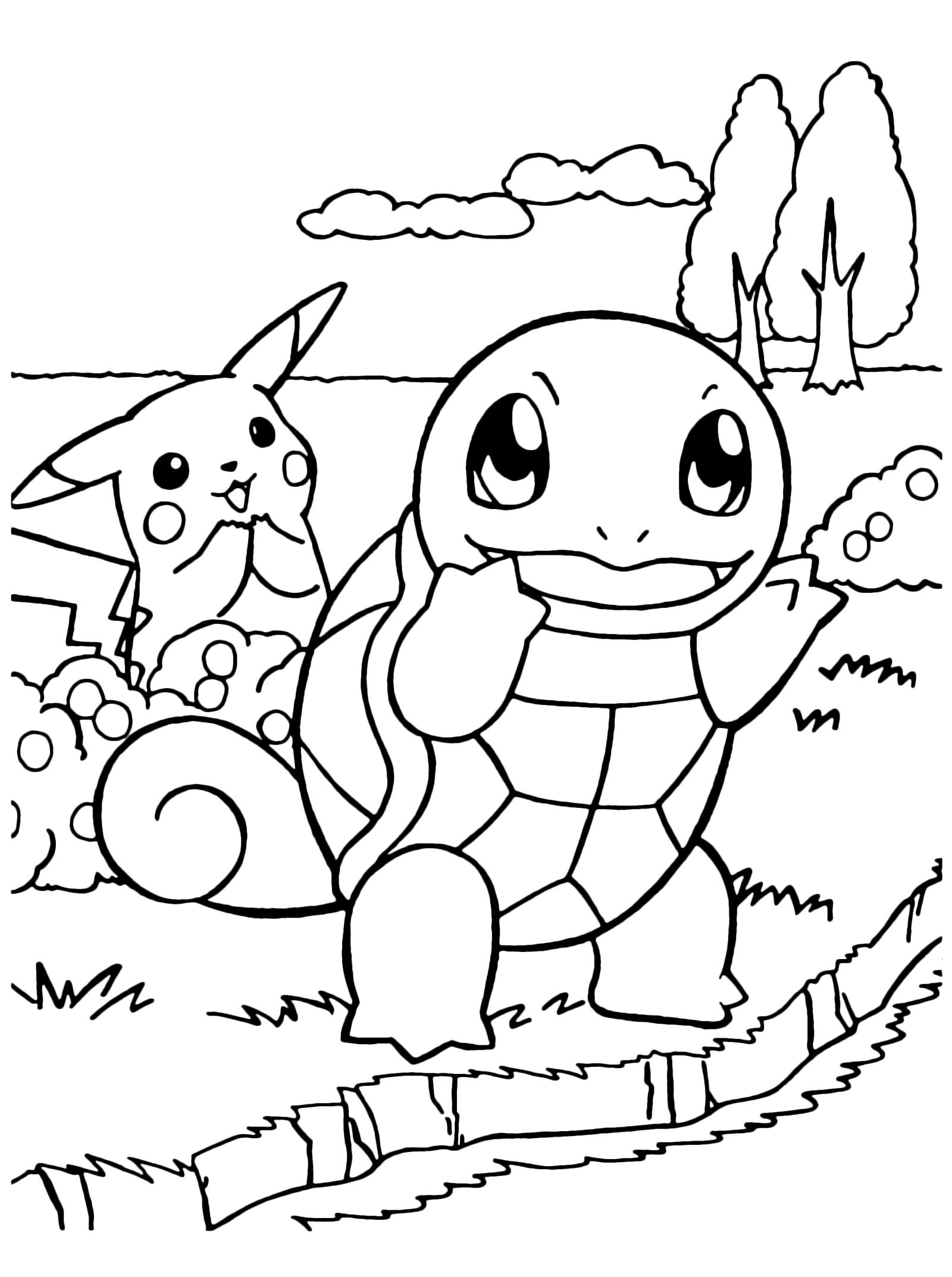 Pokémon Gen 1 Squirtle E Pikachu