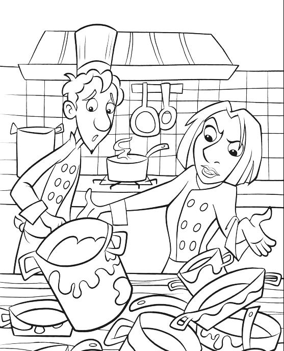 Ratatouille colette e linguini in cucina for Disegni da colorare cucina