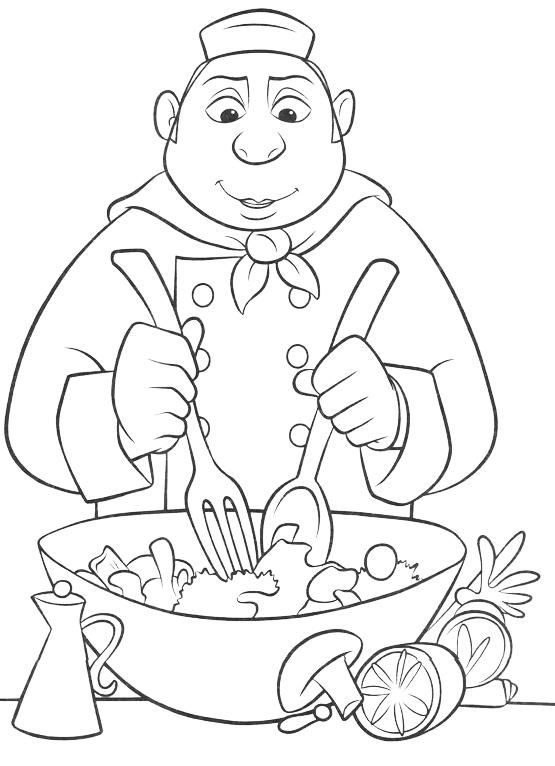 Ratatouille cuoco for Stencil da stampare per cucina
