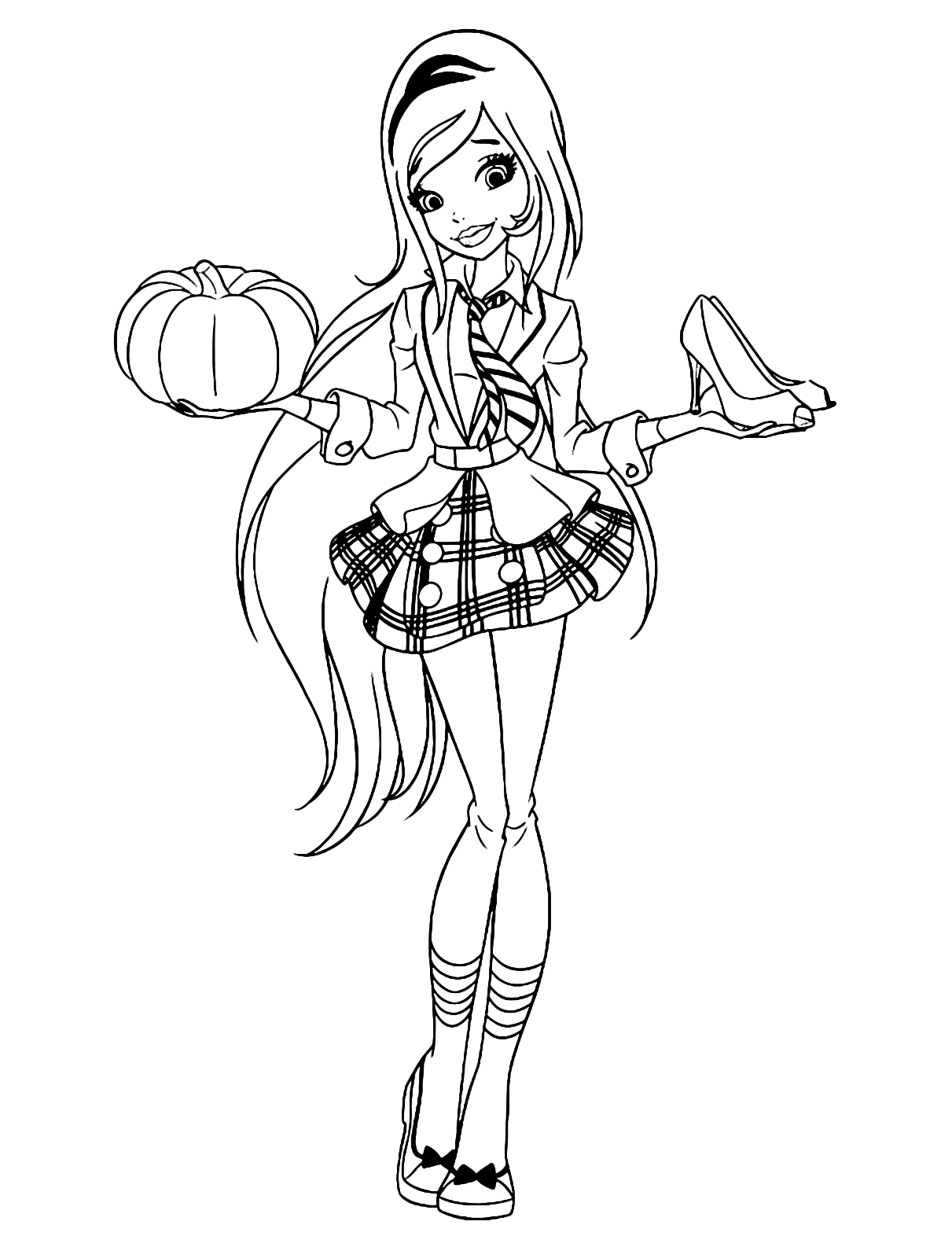 Regal academy rose con in una mano una zucca e nell for Disegni da colorare regal academy