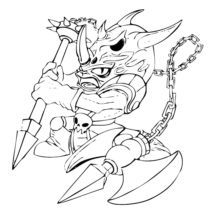 skylanders coloring pages terrafin restaurant - photo#8