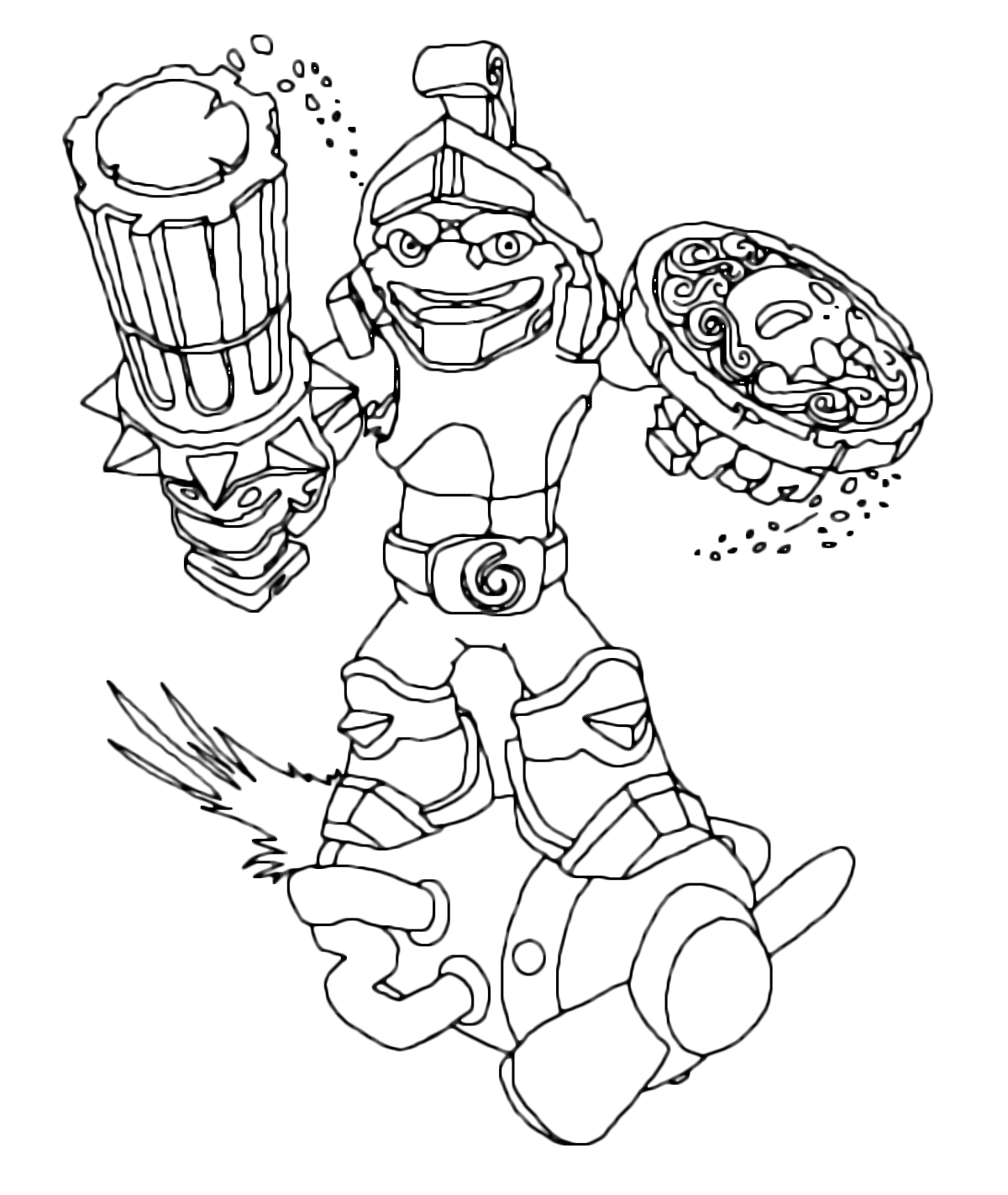 free printable coloring pages 3 skylanders scratch coloring pages ... | 1422x1200