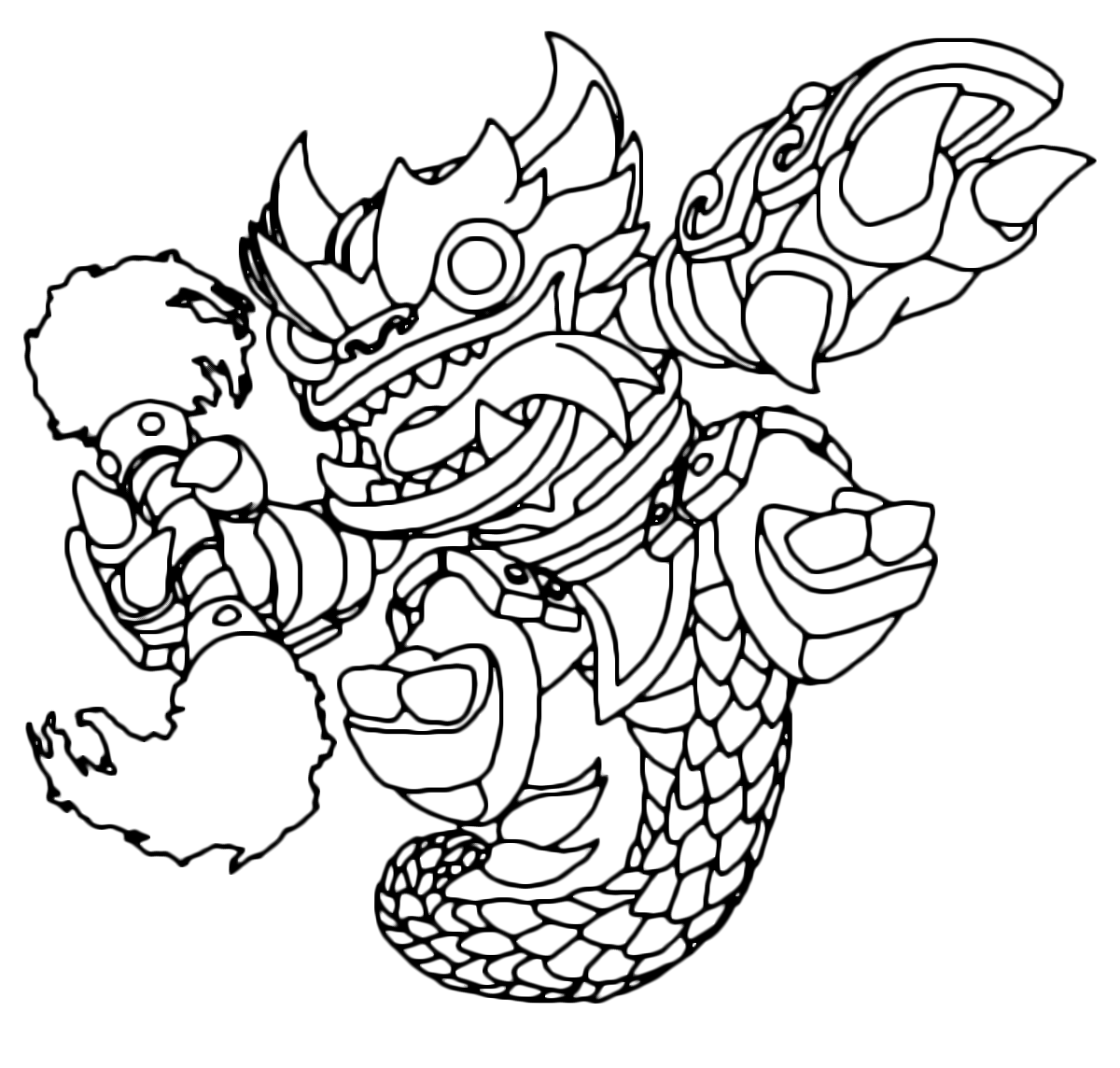 Skylanders - Swap Force - Fire Kraken attacca