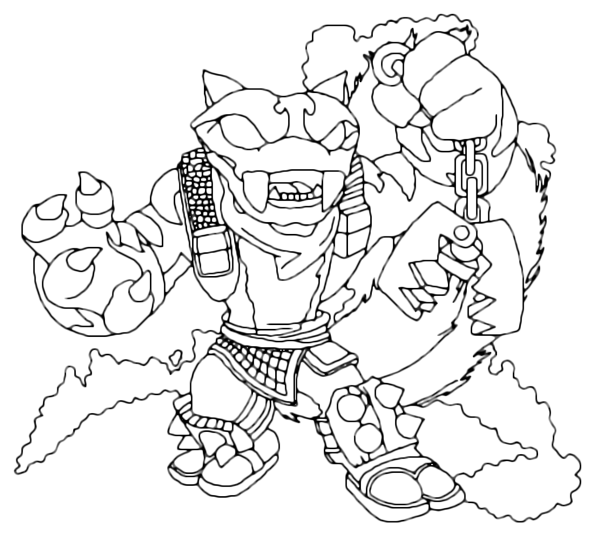 skylanders kaos trap coloring pages - photo#36